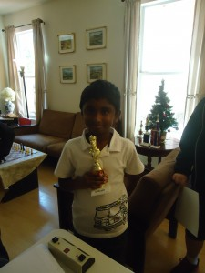 Sai with his trophy