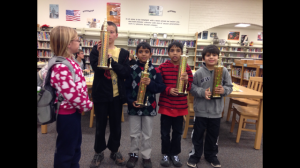 Sameer, Suraj, Jonathan and Ethan winning the Blitz trophies